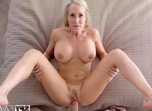 Mom jacking off son